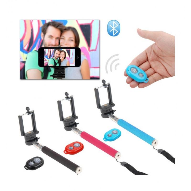 Baton Selfie Extensible + Télécommande  Bluetooth