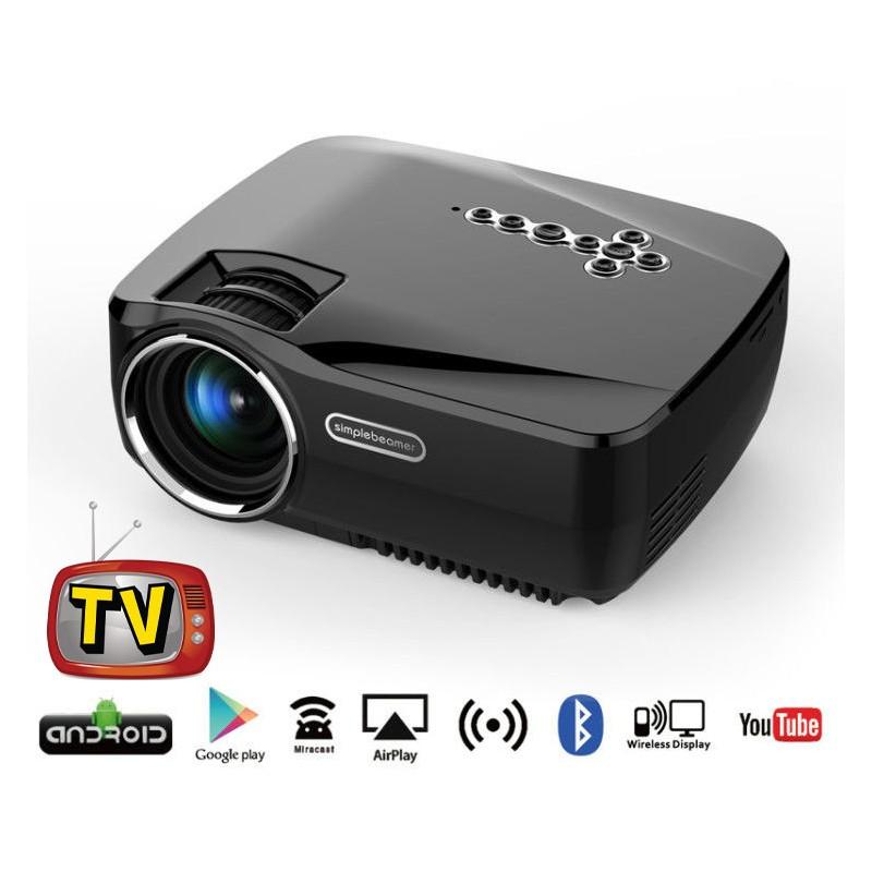 smart tv video projecteur led simplebeamer full hd. Black Bedroom Furniture Sets. Home Design Ideas