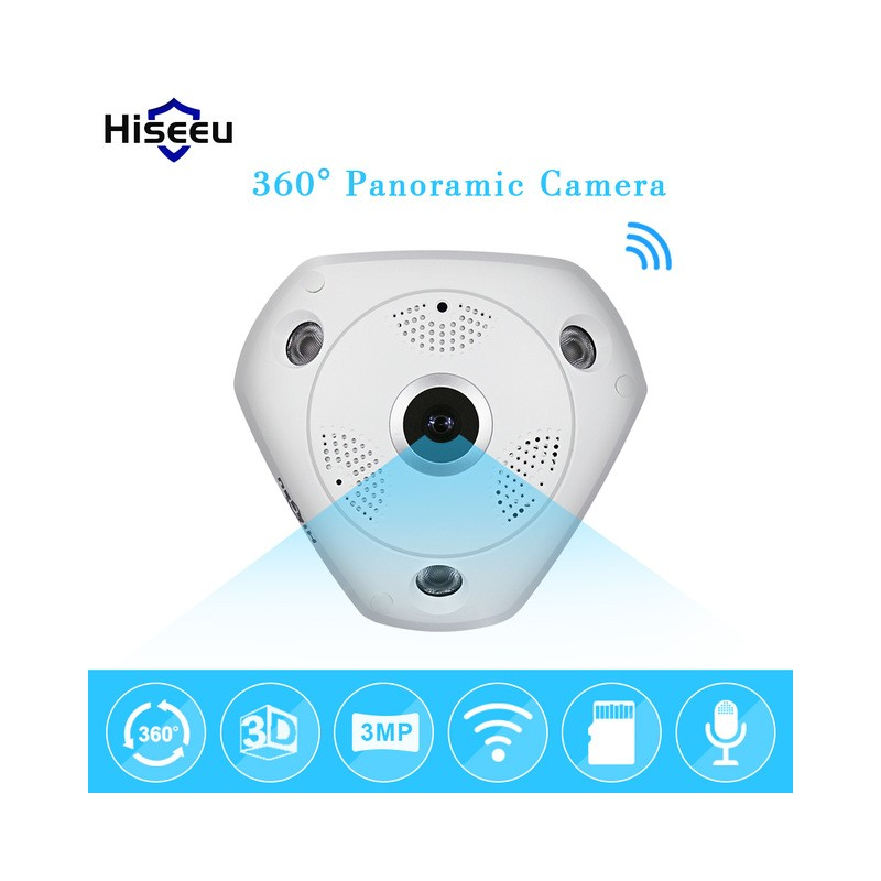 Caméra Mini  360° panoramique PTZ wifi