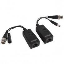 Balun vidéo HD / Power, AHD, HD-TVI, HD-CVI, 1 paire passif, BNC