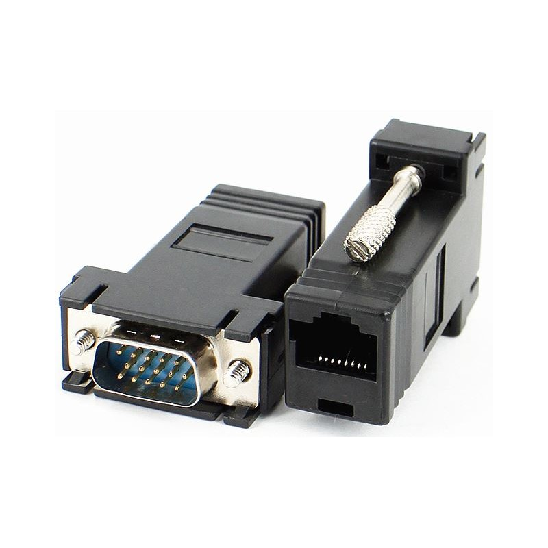 Adaptateur mâle VGA / LAN RJ45 VGA pour extension de câble vidéo