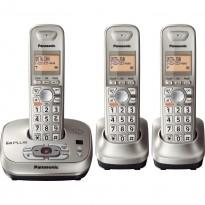 Téléphone sans fil numérique extensible avec répondeur, DECT 6.0 PLUS, Champagne Gold, 3 combinés
