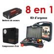 Kit d'urgence pour voiture (batterie + compresseur)