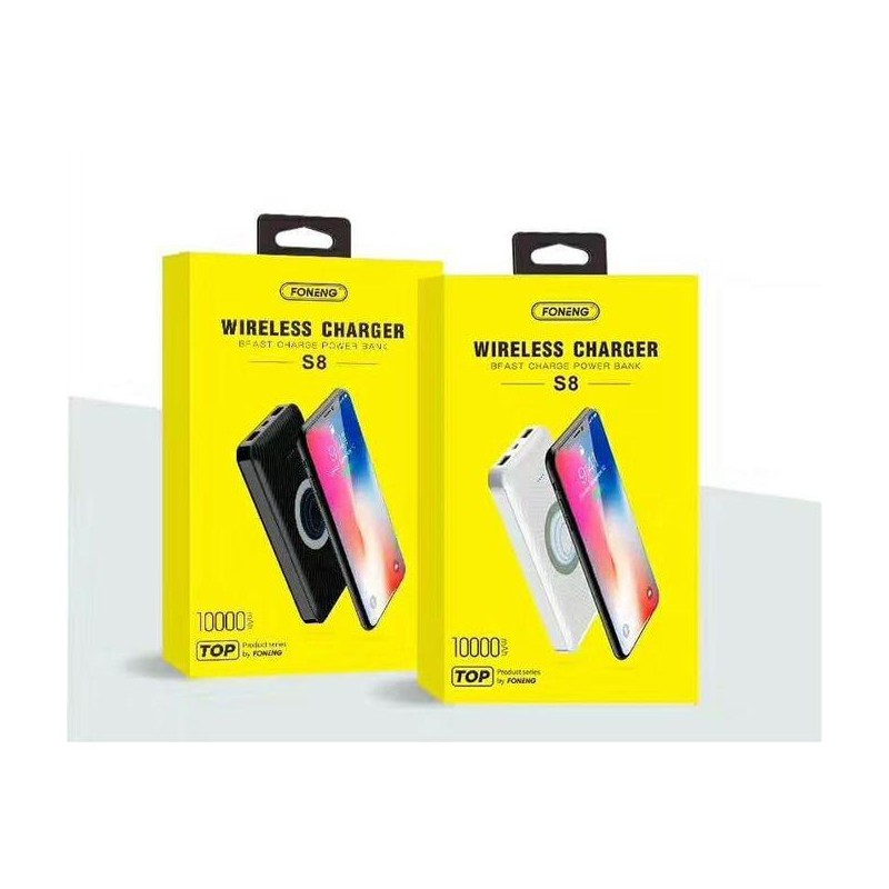 Power Bank FONENG - Chargement Sans Fil-S8 -10000 MAH