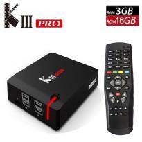 TV BOX KIII PRO Android 7.1+DVB-S2 et DVB-T2 et DVB-C