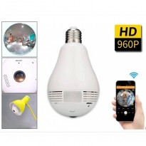 Bulb Wireless 360 ° panoramic WIFI security camera