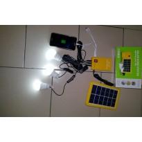 Kit d'éclairage solaire panneau 4W  3 lampes led + Power Bank