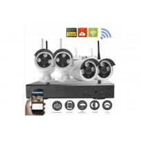 kit 4 caméras vidéosurveillance wifi (sans fil) + Enregistreur