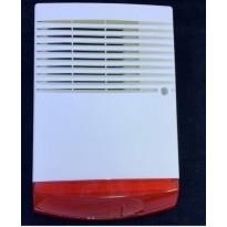Alarme Sirène extérieure auto-alimentée avec double coque interne métallique et Flash à LED incorporé