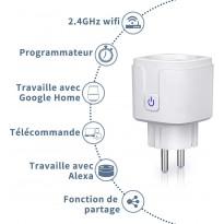 Prise Connectée Intelligente Wifi Compatible avec Android IOS