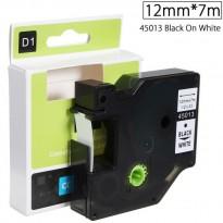 Ruban Etiquette Plastique Dymo D1 12mm X 7m